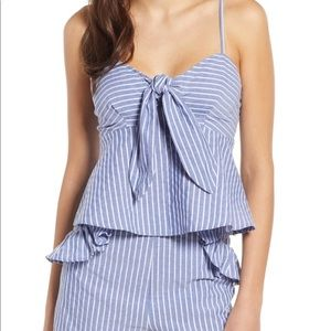 The Fifth Label Parcel Stripe tie front tank NWT